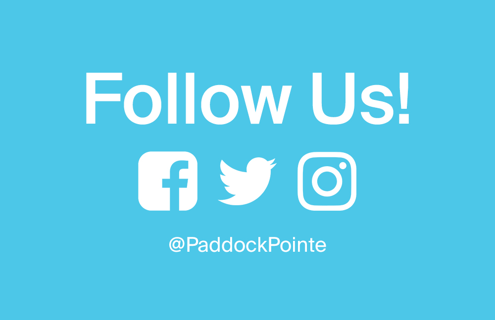 Follow Paddock Pointe on Social